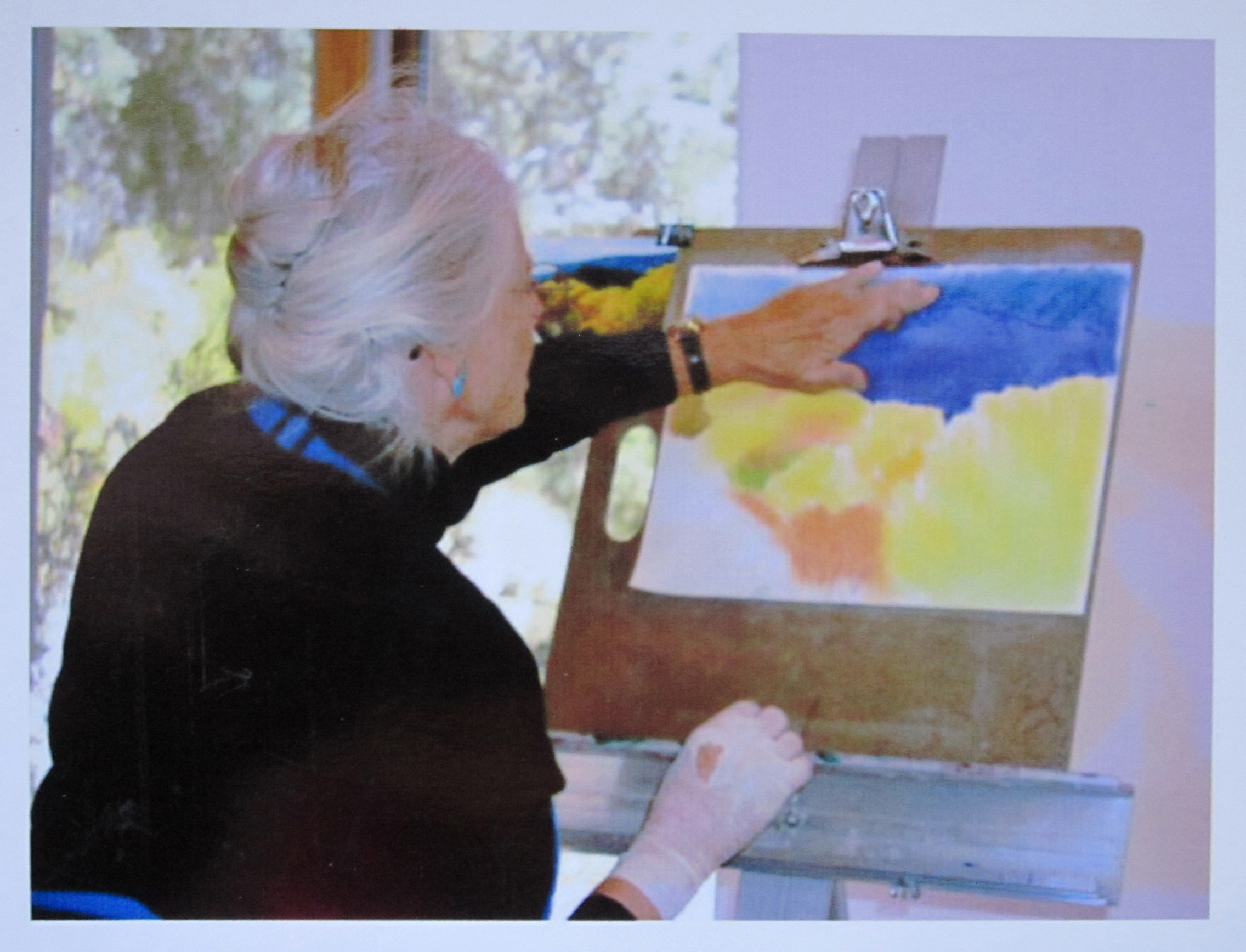 Jan at her Easel